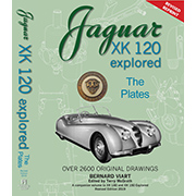 Jaguar XK 120 Explored THE PLATES Bernard Viart (In English)