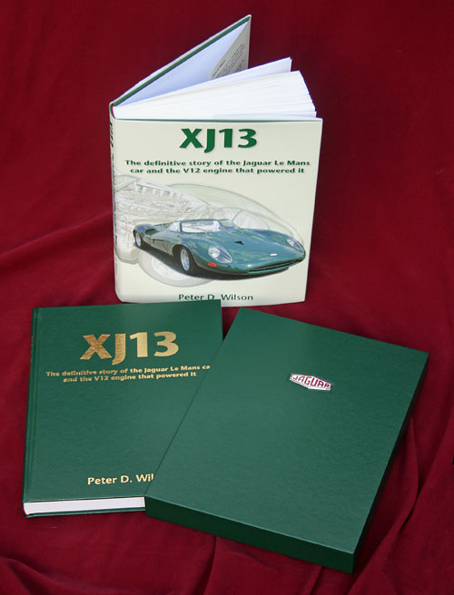 Jaguar XJ13 Standard and Leather Limited Edition books