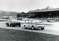 Goodwood in 1966 where I was sent as a try-out by Philip Turner. The leading Imp was driven by Nick Brittan who I would later work with (he's being chased by that great Imp tuner and driver, Roger Nathan)