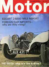 Motor was not a 'classic' magazine but we occasionally featured old cars. This is a cover shot of an SS 100 I did in December 1989