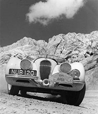 George Moore's wonderful, low-angle shot of NUB 120 on the 1952 Alpine Rally